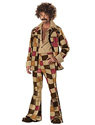 economico -Vintage Anni '70 Hippie Costume Per uomo Pantalone Marrone Vintage Cosplay Poliestere Manica lunga A campana Slip