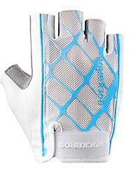 Недорогие -Спортивные перчатки Перчатки для велосипедистов Дышащий Защита от солнечных лучей Без пальцев Сетка Велосипедный спорт / Велоспорт Жен.