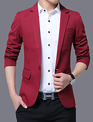 cheap -Men's Plus Size Blazer - Solid
