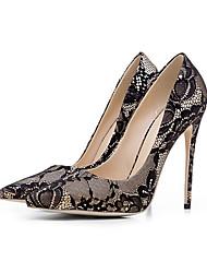abordables -Femme Chaussures Polyuréthane Automne Confort Chaussures à Talons Talon Aiguille Bout fermé Bout pointu pour Fuchsia Vert Bleu Champagne