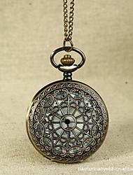 Недорогие -Для пары Кварцевый Карманные часы Китайский С гравировкой Повседневные часы сплав Группа На каждый день Череп Cool Золотистый