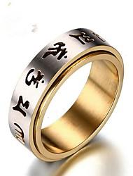 Недорогие -Муж. Нержавеющая сталь Кольцо - 1 Круглый Винтаж Назначение Подарок Повседневные