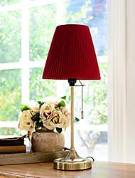 Luz Descendente Simples Luminária de Mesa Proteção para os Olhos Interruptor On/Off Alimentação AC 220V Vinho