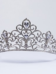 cheap -Cubic Zirconia Copper Tiaras with / 1pc Wedding Special Occasion Headpiece