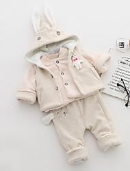 cheap -Infant Girls' Print Long Sleeve Cotton Clothing Set / Cute