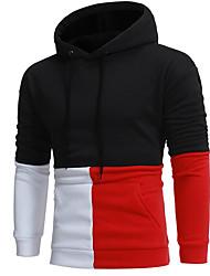 Pánské Jdeme ven Běžné/Denní Kapuce Barevné bloky Kapuce Lehce elastické Polyester Zima Podzim Dlouhý rukáv