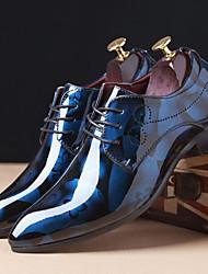 baratos -Homens sapatos Couro Envernizado Sintético Primavera Verão Sapatos formais Conforto Oxfords Estampa Animal para Casual Escritório e