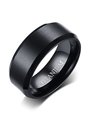 cheap -Men's Band Ring - Fashion 7 / 8 / 9 Black For Daily / Formal