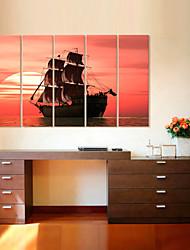 baratos -Tela de impressão Modern, 5 Painéis Tela de pintura Vertical Estampado Decoração de Parede Decoração para casa