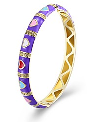 cheap -Women's Bangles Zircon Gold Plated Jewelry For Gift Daily