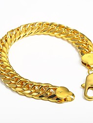 cheap -Men's Gold Plated Chain Bracelet - Hip-Hop Rock Irregular Gold Bracelet For Club Street