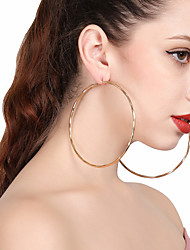 cheap -Women's Hoop Earrings - Simple, Statement Gold / Silver For Gift / Street / Club