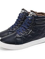 Недорогие -Муж. обувь Дерматин Осень / Зима Удобная обувь Ботинки Ботинки Черный / Коричневый / Морской синий