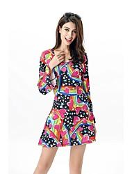 abordables -Doux Années 20 Femme Fille Costume de Soirée Cosplay Rose Cloche Manches Longues Courte / Mini Au dessus des genoux
