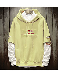 cheap -Men's Daily Casual Hoodie Letter Polyester