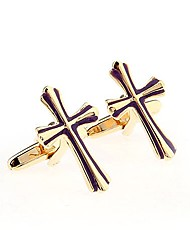 cheap -Cross Black Red Cufflinks Brass OL Style Free Form Wedding Daily Men's Costume Jewelry