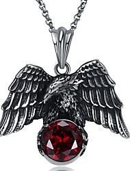 Недорогие -Муж. Синтетический алмаз Ожерелья с подвесками - Нержавеющая сталь Винтаж, Хип-хоп Темно-красный Ожерелье 1 Назначение Для вечеринок, Свидание