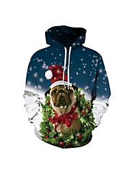 cheap -Santa Suit Ugly Christmas Sweater / Sweatshirt Women's Christmas Festival / Holiday Halloween Costumes Green Blue White Red Pattern