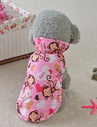 preiswerte -Katze Hund Mäntel Weste Hundekleidung Stilvoll Lässig/Alltäglich warm halten Tier Gelb Blau Rosa Kostüm Für Haustiere