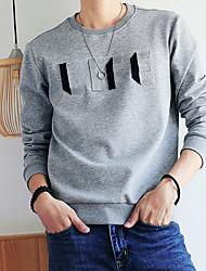 cheap -Men's Long Sleeves Sweatshirt Print Round Neck