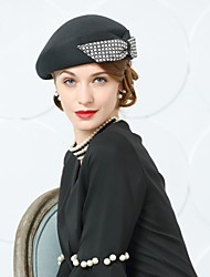 cheap -Wool Hats with Bowknot 1 Wedding Party / Evening Headpiece