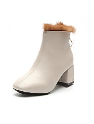Feminino Sapatos Couro Ecológico Verão botas de desleixo Conforto Sandálias Caminhada Salto Plataforma Dedo Aberto para Casual Branco