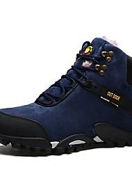 abordables -Homme Chaussures Similicuir Hiver Automne Confort Chaussures d'Athlétisme Randonnée pour Décontracté Noir Bleu