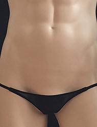 cheap -Men's High Elasticity Solid G-strings & Thongs Panties G-string Underwear Translucent,Nylon 1pc White Black Blushing Pink Khaki