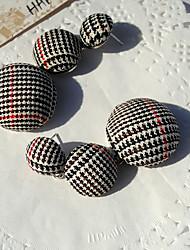 Недорогие -Жен. Серьги-слезки Мода европейский Ткань Сплав Геометрической формы Бижутерия Подарок Повседневные Бижутерия