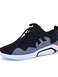 economico -Da uomo Scarpe Di pelle Tulle PU (Poliuretano) Inverno Autunno Comoda Sneakers Footing Pizzo per Casual Nero Grigio Rosso