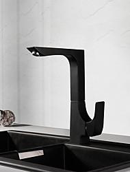 Недорогие -Современный По центру Керамический клапан Одной ручкой одно отверстие кухонный смеситель