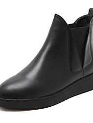 Недорогие -Для женщин Обувь Материал на заказ клиента Зима Осень Зимние сапоги Модная обувь Светодиодные подошвы Ботинки Плоские Заостренный носок