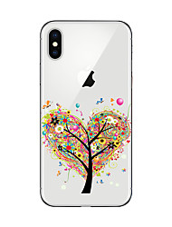 billige -Etui Til Apple iPhone X iPhone 8 Plus iPhone 7 iPhone 6 iPhone 5 etui Transparent Mønster Bagcover Træ Blødt TPU for iPhone X iPhone 8
