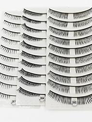 abordables -Cil 30 Naturel Maquillage Quotidien Cils Entiers Croisés Longs Naturels 1cm-1.5cm