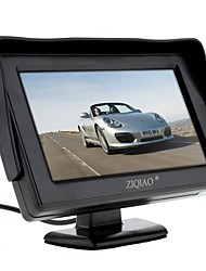 baratos -ziqiao monitor de rearview de carro de 4,3 polegadas com câmera reversa reversa de backup de alta qualidade