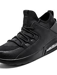 abordables -Homme Chaussures Gomme Printemps / Automne Confort Chaussures d'Athlétisme Marche Bottine / Demi Botte Blanc / Noir / Noir / blanc