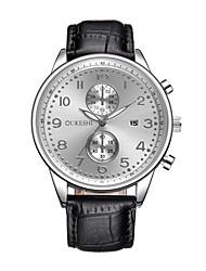 Pánské Módní hodinky Náramkové hodinky čínština Křemenný Kalendář Kůže Kapela Na běžné nošení Černá