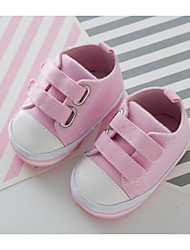Baby Shoes Canvas Spring Fall Comfort First Walkers Flats for Casual Pink Blue Red White