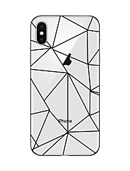 economico -Custodia Per Apple iPhone X iPhone 8 Plus Transparente Fantasia/disegno Custodia posteriore Geometrica Morbido TPU per iPhone X iPhone 8