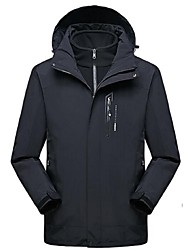 cheap -Men's Hiking 3-in-1 Jackets Outdoor Winter Windproof Winter Jacket 3-in-1 Jacket Full Length Visible Zipper Camping / Hiking Ski /