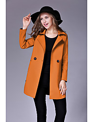 cheap -Women's Work Street chic Coat-Solid Colored Shirt Collar