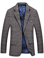 Pánské Pepito Denní Vintage Blejzr-Podzim Polyester Košilový límec Dlouhé rukávy Standardní