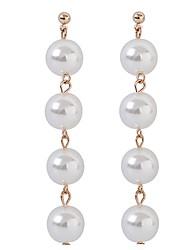 abordables -Femme Imitation de perle Boucles d'oreille goutte - Grande occasion Elégant Mode Or Argent Forme de Cercle Balle Des boucles d'oreilles
