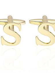Недорогие -Буквы Золотой Запонки Медь Простой Классический Повседневные Официальные Муж. Бижутерия