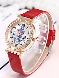 Недорогие -Жен. Наручные часы Китайский Повседневные часы PU Группа Роскошь / На каждый день / Мода Черный / Белый / Синий