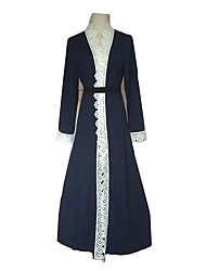 preiswerte -Mode Einteilig Kleid Frau Fest / Feiertage Halloween Kostüme Blau Spitze