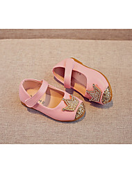 cheap -Girls' Shoes PU Spring Fall Flower Girl Shoes Flats for Casual Gold Black Pink