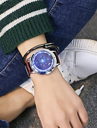 baratos -Homens / Mulheres Relógio de Pulso Chinês Relógio Casual / Legal PU Banda Luxo / Casual / Relógio Criativo Único Preta / Marrom / Jinli 377