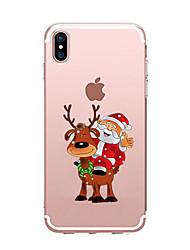 abordables -Para iPhone X iPhone 8 iPhone 7 iPhone 6 Funda iPhone 5 Carcasa Funda Transparente Diseños Cubierta Trasera Funda Navidad Suave TPU para