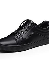 abordables -Homme Chaussures Similicuir Cuir Printemps Automne Confort Basket pour Décontracté Noir